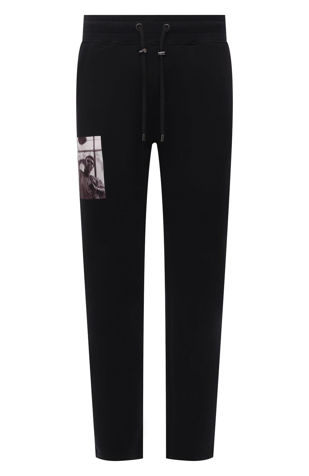 Мужские хлопковые брюки LIMITATO черного цвета, арт. HIT/TRACK PANTS | Фото 1 (Мужское Кросс-КТ: Брюки-трикотаж; Длина (брюки, джинсы): Стандартные; Случай: Повседневный; Материал внешний: Хлопок; Стили: Спорт-шик)