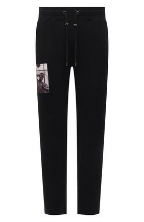 Мужские хлопковые брюки LIMITATO черного цвета, арт. HIT/TRACK PANTS | Фото 1 (Материал внешний: Хлопок; Длина (брюки, джинсы): Стандартные; Мужское Кросс-КТ: Брюки-трикотаж; Случай: Повседневный; Стили: Спорт-шик)