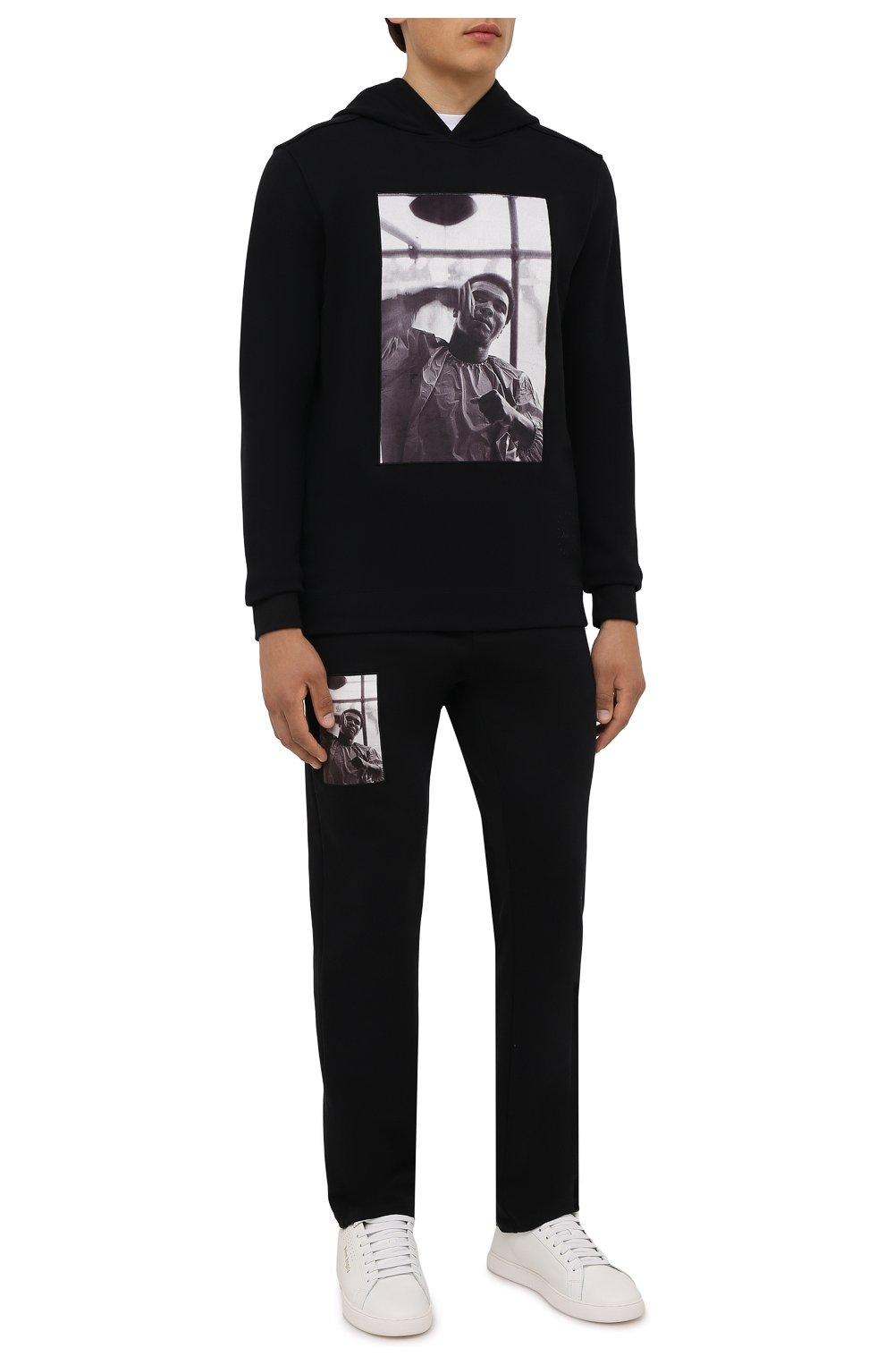 Мужские хлопковые брюки LIMITATO черного цвета, арт. HIT/TRACK PANTS | Фото 2 (Мужское Кросс-КТ: Брюки-трикотаж; Длина (брюки, джинсы): Стандартные; Случай: Повседневный; Материал внешний: Хлопок; Стили: Спорт-шик)