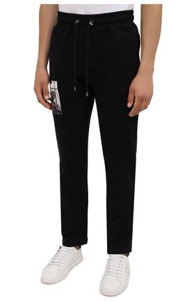 Мужские хлопковые брюки LIMITATO черного цвета, арт. HIT/TRACK PANTS | Фото 3 (Мужское Кросс-КТ: Брюки-трикотаж; Длина (брюки, джинсы): Стандартные; Случай: Повседневный; Материал внешний: Хлопок; Стили: Спорт-шик)