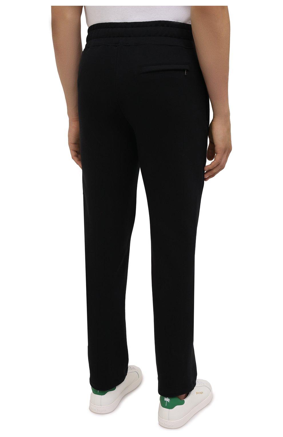 Мужские хлопковые брюки LIMITATO черного цвета, арт. HIT/TRACK PANTS | Фото 4 (Мужское Кросс-КТ: Брюки-трикотаж; Длина (брюки, джинсы): Стандартные; Случай: Повседневный; Материал внешний: Хлопок; Стили: Спорт-шик)