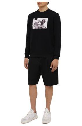 Мужской хлопковый свитшот LIMITATO черного цвета, арт. PANCH BAG/SWEATER | Фото 2 (Рукава: Длинные; Длина (для топов): Стандартные; Материал внешний: Хлопок; Мужское Кросс-КТ: свитшот-одежда; Принт: С принтом; Стили: Гранж)