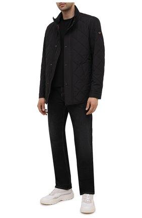 Мужская утепленная куртка PAUL&SHARK черного цвета, арт. 11312004/DF | Фото 2