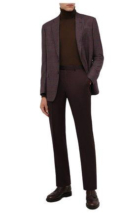 Мужские кожаные дерби CANALI коричневого цвета, арт. 221207/RF00566 | Фото 2 (Материал внутренний: Натуральная кожа; Стили: Классический; Мужское Кросс-КТ: Броги-обувь)