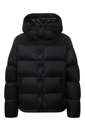 Мужская пуховая куртка BURBERRY темно-синего цвета, арт. 8018732   Фото 1