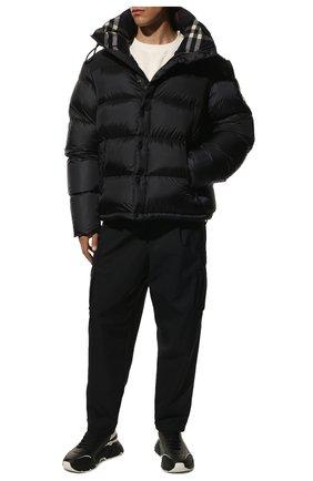 Мужская пуховая куртка BURBERRY темно-синего цвета, арт. 8018732   Фото 2