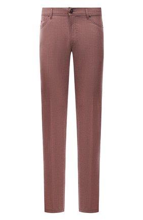 Мужские кашемировые брюки MARCO PESCAROLO бордового цвета, арт. NERAN0M18/ZIP/4442 | Фото 1 (Материал внешний: Шерсть, Кашемир; Случай: Повседневный; Стили: Кэжуэл; Длина (брюки, джинсы): Стандартные)