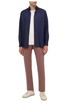 Мужские кашемировые брюки MARCO PESCAROLO бордового цвета, арт. NERAN0M18/ZIP/4442 | Фото 2 (Материал внешний: Шерсть, Кашемир; Случай: Повседневный; Стили: Кэжуэл; Длина (брюки, джинсы): Стандартные)