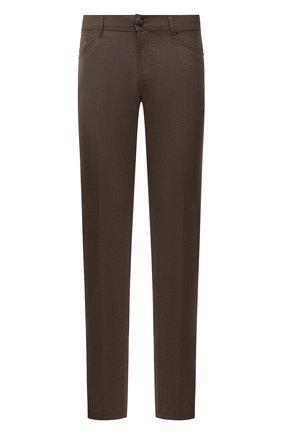 Мужские кашемировые брюки MARCO PESCAROLO коричневого цвета, арт. NERAN0M18/ZIP/4442 | Фото 1