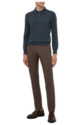 Мужские кашемировые брюки MARCO PESCAROLO коричневого цвета, арт. NERAN0M18/ZIP/4442 | Фото 2