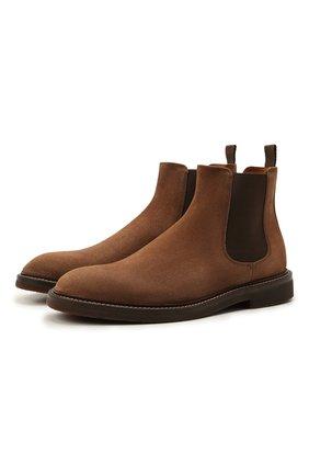 Мужские замшевые челси BRUNELLO CUCINELLI светло-коричневого цвета, арт. MZUPLHE818 | Фото 1 (Подошва: Плоская; Материал внутренний: Натуральная кожа; Материал внешний: Замша; Мужское Кросс-КТ: Сапоги-обувь, Челси-обувь)