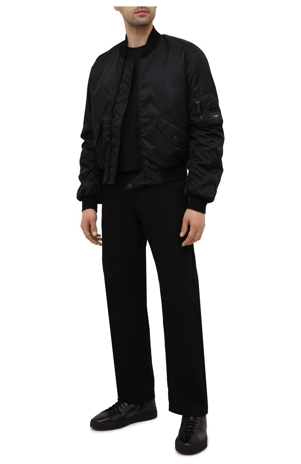 Мужские кожаные кеды SANTONI темно-серого цвета, арт. MBGT21556NE0RG0NG62   Фото 2 (Материал внутренний: Натуральная кожа; Подошва: Массивная)