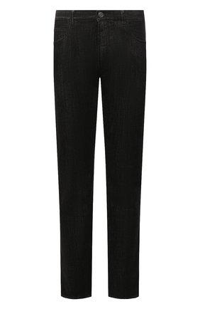 Мужские джинсы GIORGIO ARMANI черного цвета, арт. 6KSJ15/SD1AZ | Фото 1 (Материал внешний: Хлопок; Длина (брюки, джинсы): Стандартные; Силуэт М (брюки): Прямые; Стили: Кэжуэл; Кросс-КТ: Деним)