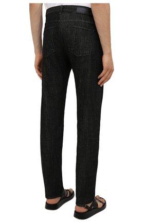 Мужские джинсы GIORGIO ARMANI черного цвета, арт. 6KSJ15/SD1AZ | Фото 4 (Силуэт М (брюки): Прямые; Кросс-КТ: Деним; Длина (брюки, джинсы): Стандартные; Материал внешний: Хлопок; Стили: Кэжуэл)