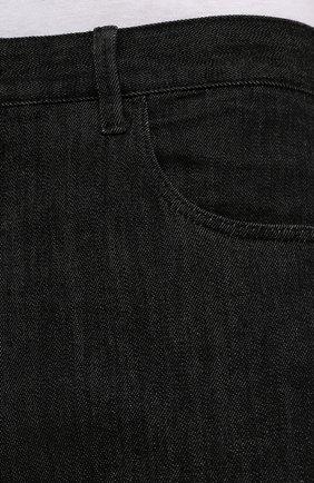 Мужские джинсы GIORGIO ARMANI черного цвета, арт. 6KSJ15/SD1AZ | Фото 5 (Силуэт М (брюки): Прямые; Кросс-КТ: Деним; Длина (брюки, джинсы): Стандартные; Материал внешний: Хлопок; Стили: Кэжуэл)