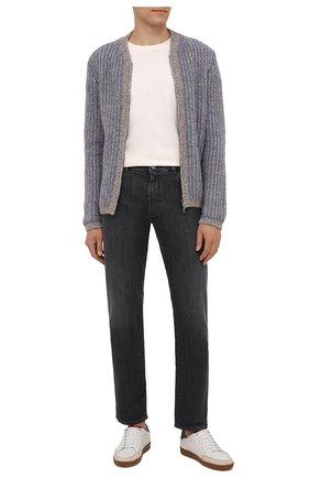 Мужские джинсы GIORGIO ARMANI темно-синего цвета, арт. 6KSJ15/SD1AZ | Фото 2 (Материал внешний: Хлопок; Длина (брюки, джинсы): Стандартные; Силуэт М (брюки): Прямые; Стили: Кэжуэл; Кросс-КТ: Деним)