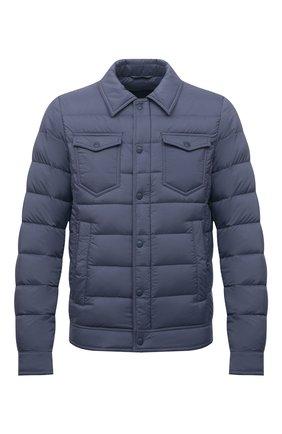 Мужская пуховая куртка HERNO синего цвета, арт. PI011ULE/19288 | Фото 1 (Материал внешний: Синтетический материал; Материал подклада: Синтетический материал; Рукава: Длинные; Длина (верхняя одежда): Короткие; Кросс-КТ: Куртка; Мужское Кросс-КТ: пуховик-короткий; Стили: Кэжуэл; Материал утеплителя: Пух и перо)