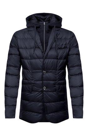 Мужская пуховая куртка HERNO темно-синего цвета, арт. PI077UR/12020 | Фото 1