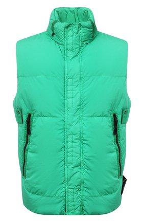 Мужской пуховый жилет STONE ISLAND зеленого цвета, арт. 7515G0123 | Фото 1