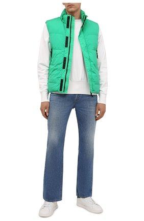 Мужской пуховый жилет STONE ISLAND зеленого цвета, арт. 7515G0123 | Фото 2