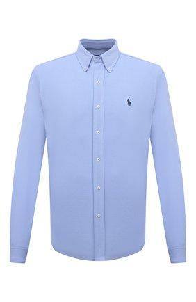 Мужская хлопковая рубашка POLO RALPH LAUREN голубого цвета, арт. 710654408/C7998   Фото 1