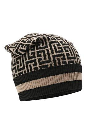 Мужская шерстяная шапка BALMAIN бежевого цвета, арт. WH1XC000/K036 | Фото 1
