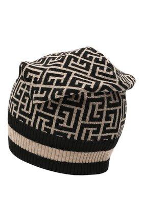 Мужская шерстяная шапка BALMAIN бежевого цвета, арт. WH1XC000/K036 | Фото 2