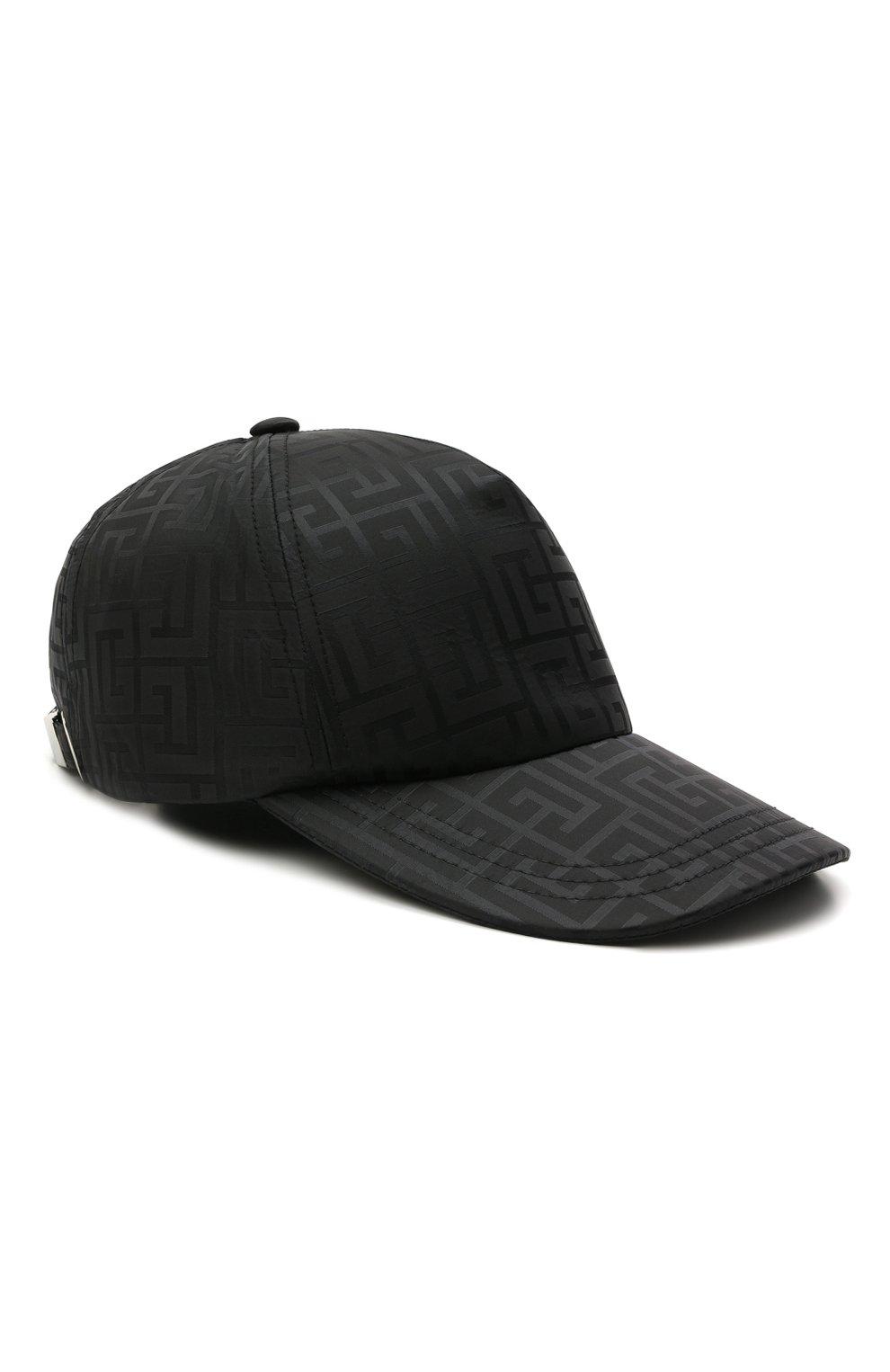 Мужской бейсболка BALMAIN черного цвета, арт. WH1XA000/X167   Фото 1 (Материал: Текстиль, Синтетический материал)