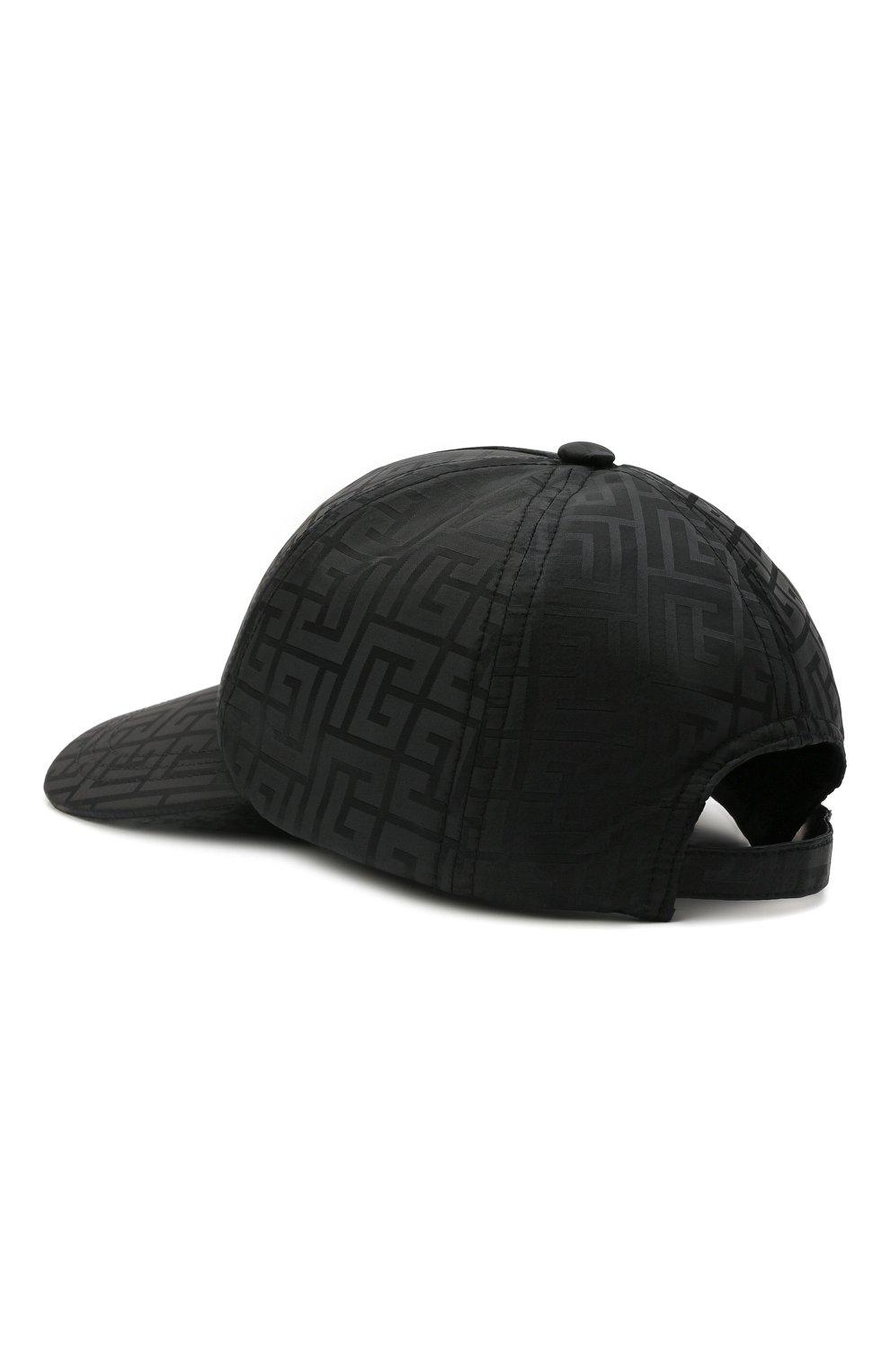 Мужской бейсболка BALMAIN черного цвета, арт. WH1XA000/X167   Фото 2 (Материал: Текстиль, Синтетический материал)