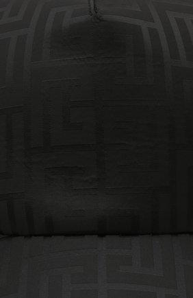 Мужской бейсболка BALMAIN черного цвета, арт. WH1XA000/X167   Фото 3 (Материал: Текстиль, Синтетический материал)