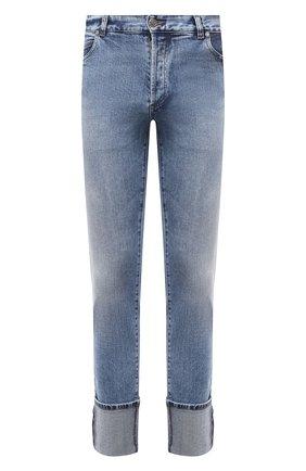 Мужские джинсы BALMAIN голубого цвета, арт. WH1MH025/142D | Фото 1