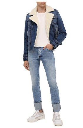 Мужские джинсы BALMAIN голубого цвета, арт. WH1MH025/142D | Фото 2