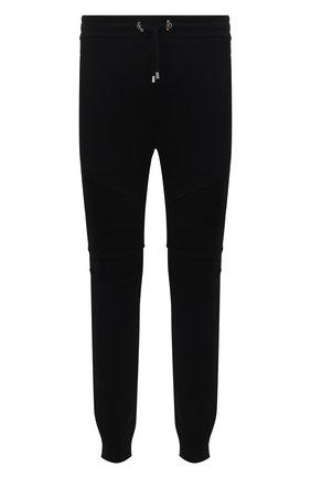 Мужские хлопковые джоггеры BALMAIN черного цвета, арт. WH10B000/B115 | Фото 1