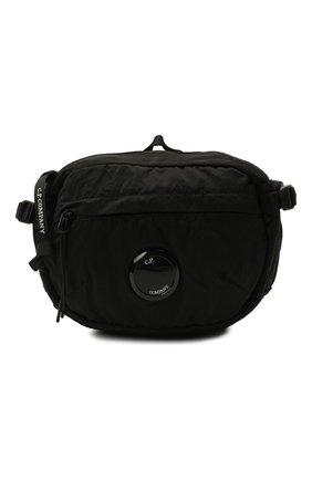 Мужская текстильная поясная сумка C.P. COMPANY черного цвета, арт. 11CMAC112A-005269G | Фото 1