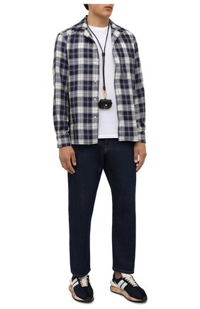 Мужская рубашка RALPH LAUREN темно-синего цвета, арт. 790846634 | Фото 2