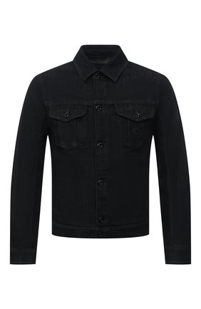 Мужская джинсовая куртка EMPORIO ARMANI черного цвета, арт. 8N1B95/1DV7Z | Фото 1 (Рукава: Длинные; Длина (верхняя одежда): Короткие; Материал внешний: Хлопок; Кросс-КТ: Куртка, Деним; Стили: Кэжуэл)