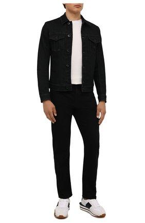 Мужская джинсовая куртка EMPORIO ARMANI черного цвета, арт. 8N1B95/1DV7Z | Фото 2 (Рукава: Длинные; Длина (верхняя одежда): Короткие; Материал внешний: Хлопок; Кросс-КТ: Куртка, Деним; Стили: Кэжуэл)