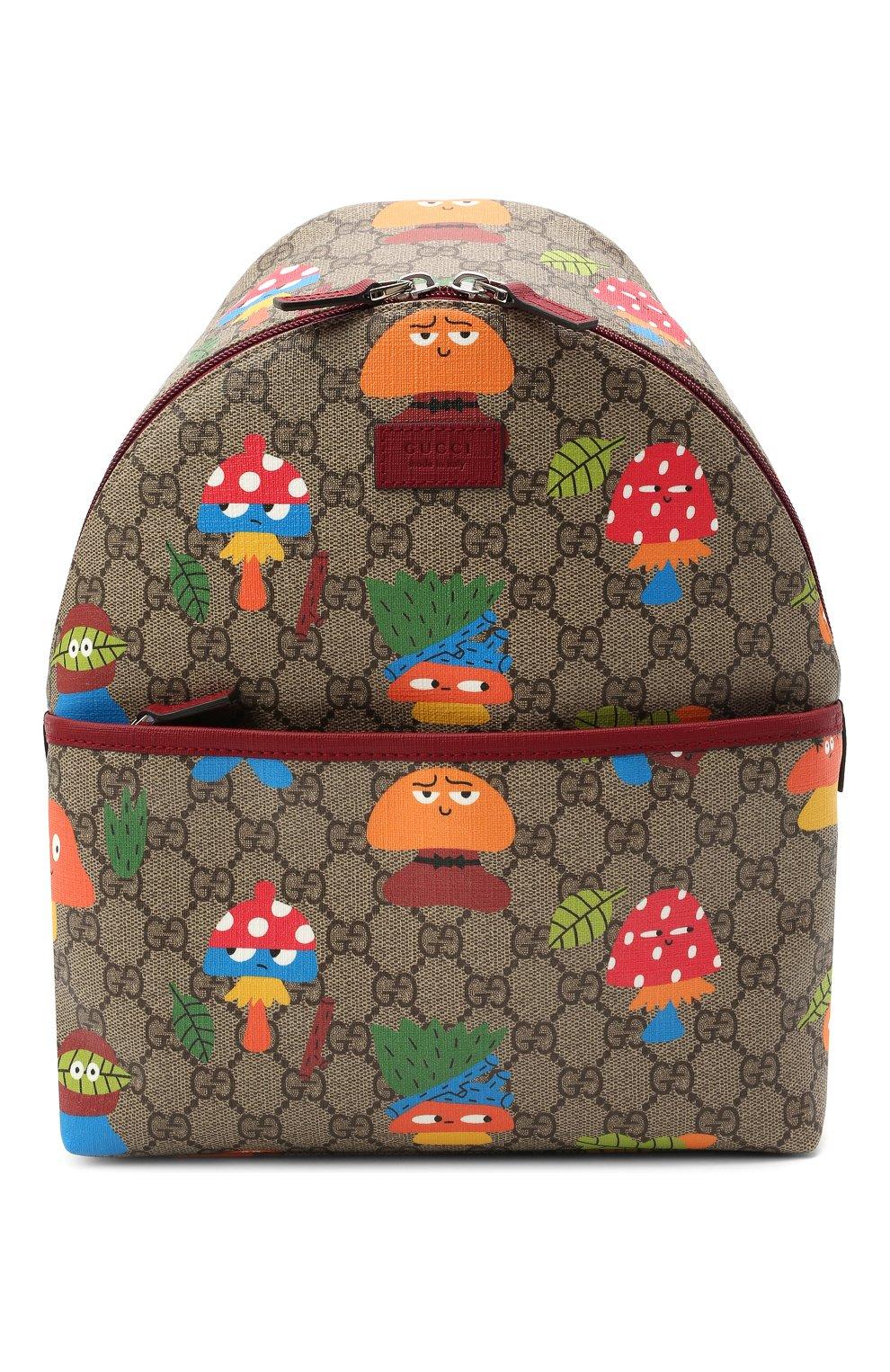Детская рюкзак GUCCI бежевого цвета, арт. 271327/22BCN   Фото 1 (Материал: Экокожа)