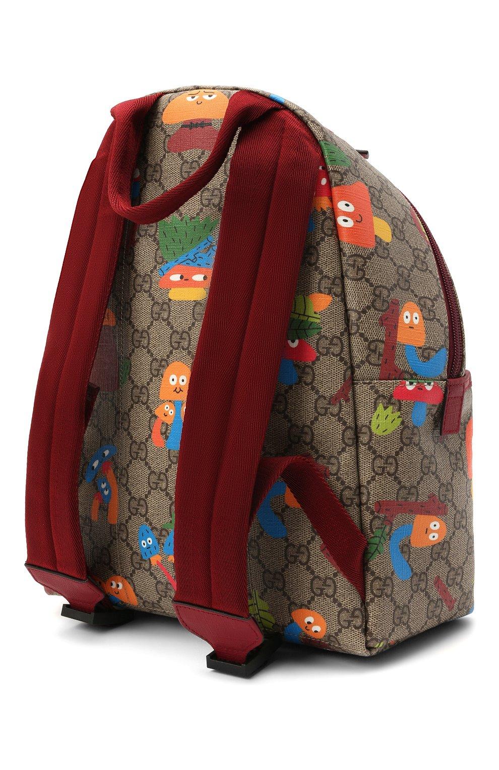 Детская рюкзак GUCCI бежевого цвета, арт. 271327/22BCN   Фото 2 (Материал: Экокожа)