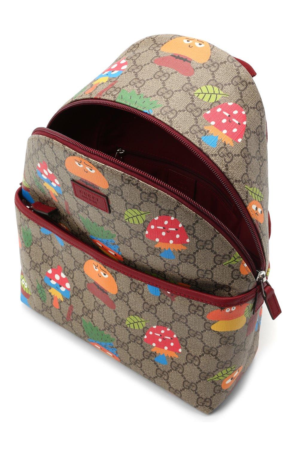 Детская рюкзак GUCCI бежевого цвета, арт. 271327/22BCN   Фото 3 (Материал: Экокожа)