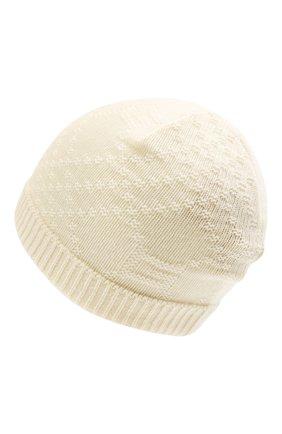 Детского кашемировая шапка GUCCI кремвого цвета, арт. 660683/3KAAG   Фото 2 (Материал: Шерсть, Кашемир)