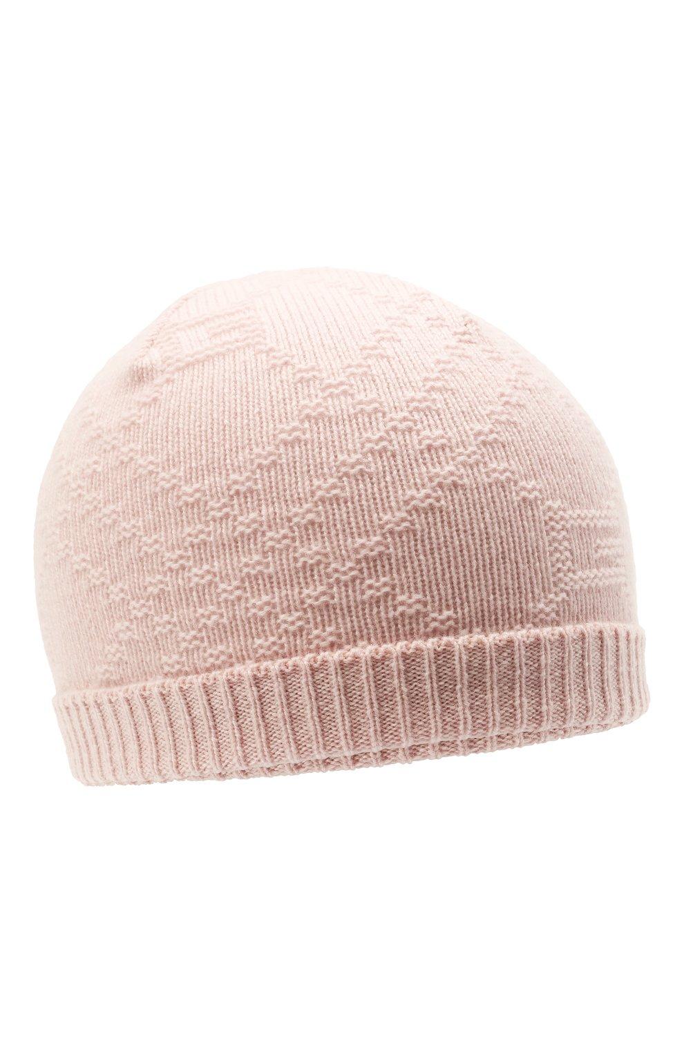 Детского кашемировая шапка GUCCI светло-розового цвета, арт. 660683/3KAAG | Фото 1 (Материал: Кашемир, Шерсть)