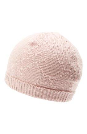Детского кашемировая шапка GUCCI светло-розового цвета, арт. 660683/3KAAG | Фото 2 (Материал: Кашемир, Шерсть)
