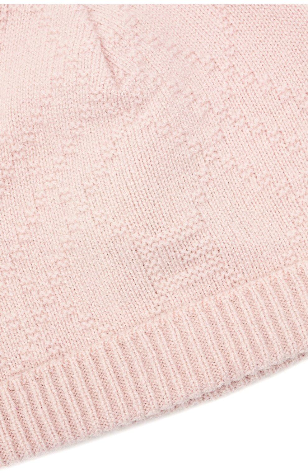 Детского кашемировая шапка GUCCI светло-розового цвета, арт. 660683/3KAAG | Фото 3 (Материал: Кашемир, Шерсть)