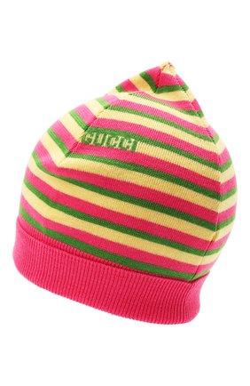 Детского шерстяная шапка GUCCI разноцветного цвета, арт. 660617/4K206 | Фото 2