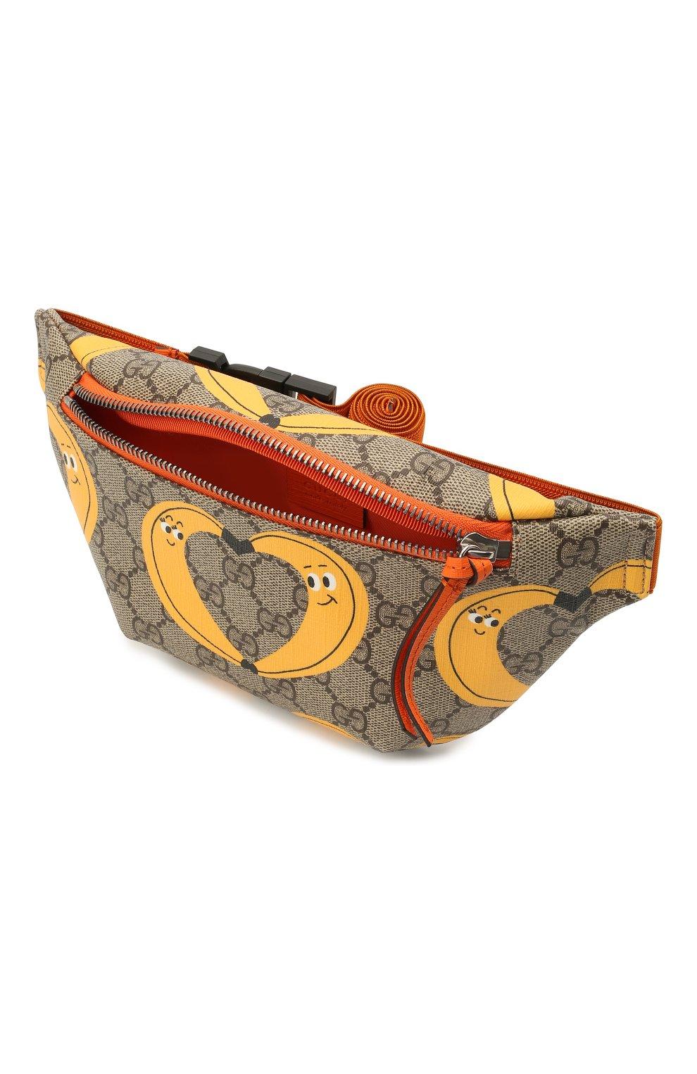 Детская поясная сумка GUCCI разноцветного цвета, арт. 502095/22DDN | Фото 3 (Материал: Экокожа)
