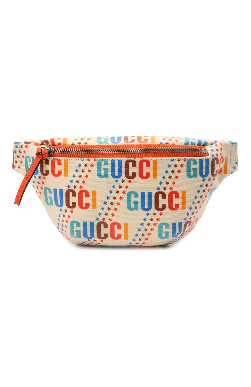 Детская поясная сумка GUCCI разноцветного цвета, арт. 502095/21ZCN   Фото 1 (Материал: Текстиль)