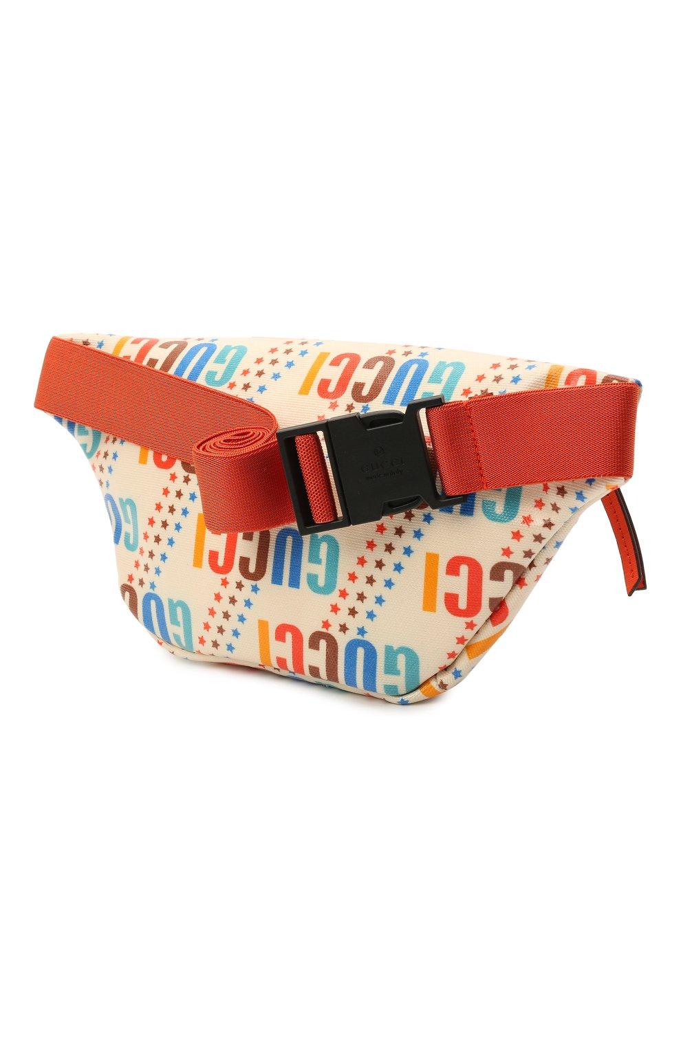 Детская поясная сумка GUCCI разноцветного цвета, арт. 502095/21ZCN   Фото 2 (Материал: Текстиль)