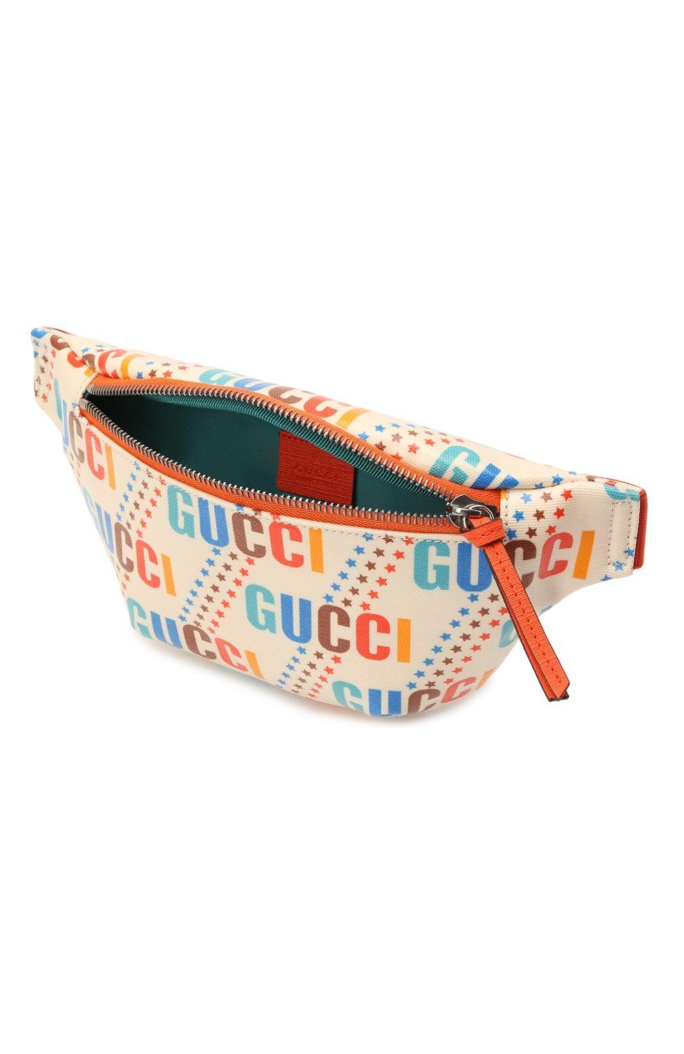 Детская поясная сумка GUCCI разноцветного цвета, арт. 502095/21ZCN   Фото 3 (Материал: Текстиль)