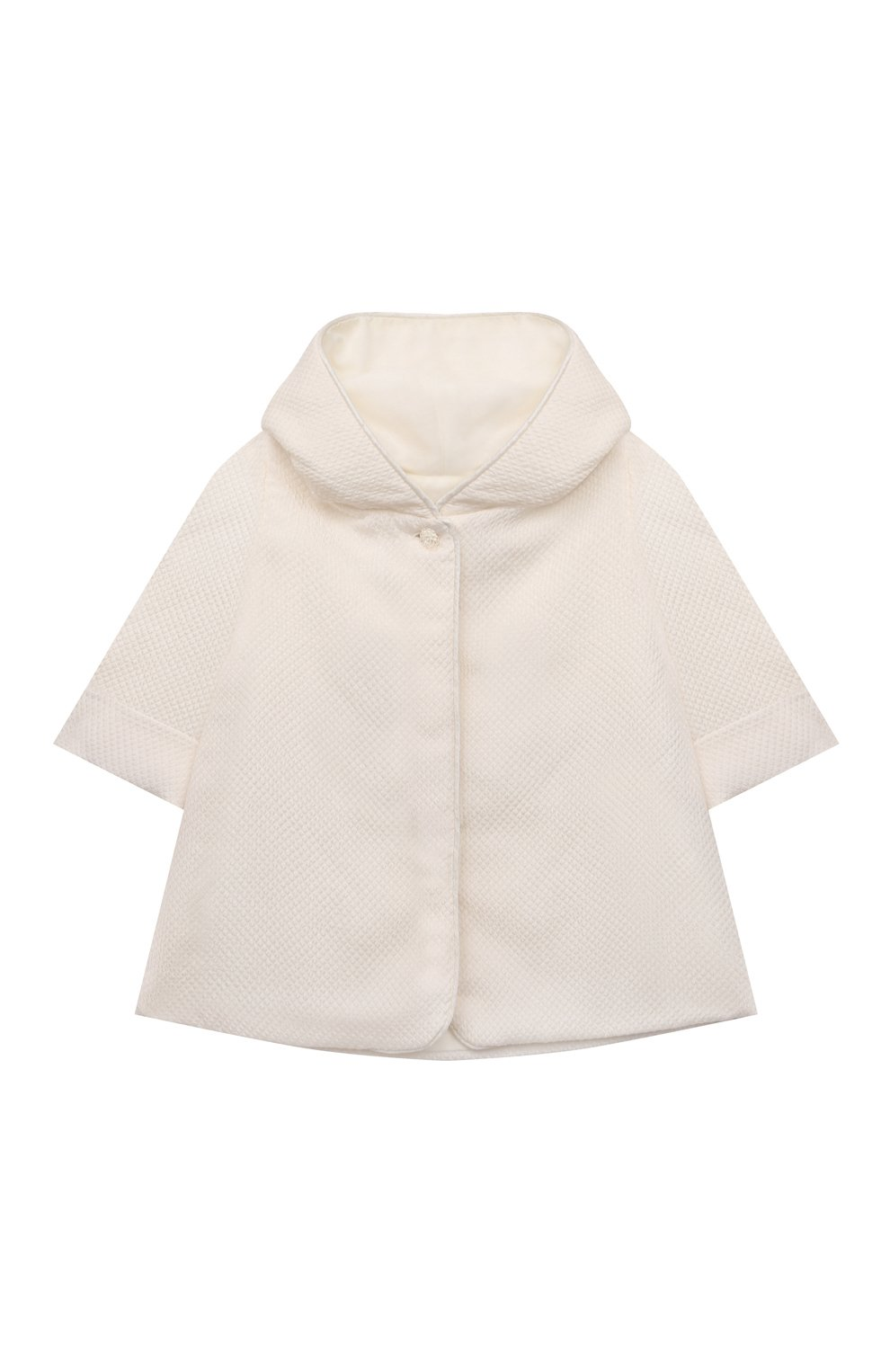 Детского комплект из семи изделий кружевной premium CHEPE кремвого цвета, арт. 351388   Фото 2 (Материал внешний: Хлопок; Ростовка одежда: 3 мес   62 см)